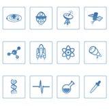 Icona I di scienza e dello spazio Immagine Stock