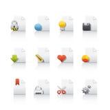 Icona impostata - archivi di documento Immagini Stock