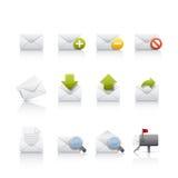 Icona impostata - Comunications & posta Fotografie Stock
