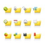 Icona impostata - dispositivi di piegatura di applicazione Fotografie Stock