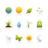 Icona impostata - ecologia Immagine Stock Libera da Diritti