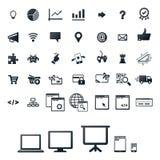 Icona impostata per la programmazione, gioco Fotografie Stock