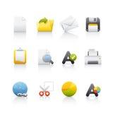 Icona impostata - ufficio & Bussines Fotografia Stock