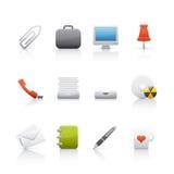 Icona impostata - ufficio & Bussines Fotografie Stock Libere da Diritti