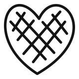 Icona impressionabile del cuore, stile semplice illustrazione vettoriale