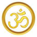Icona indù di vettore di simbolo del OM Fotografia Stock Libera da Diritti