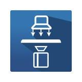 Icona industriale di termografia Fotografia Stock Libera da Diritti