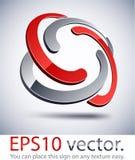 icona intrecciata moderna di marchio 3D. Fotografia Stock Libera da Diritti