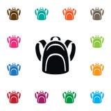 Icona isolata del Packsack L'elemento di vettore dello zaino può essere usato per lo zaino, lo zaino, concetto di progetto della  Fotografia Stock