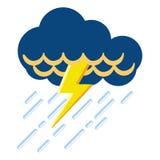 Icona isolata del tempo di temporale Immagine Stock Libera da Diritti