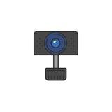 Icona isolata del webcam di vettore Fotografie Stock Libere da Diritti