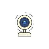 Icona isolata del webcam di vettore Immagine Stock