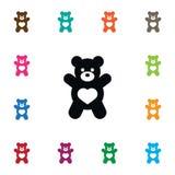 Icona isolata della bambola Teddy Vector Element Can Be ha usato per l'orsacchiotto, orso, concetto di progetto della bambola Fotografie Stock