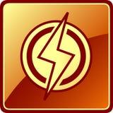 Icona isolata di potere Fotografie Stock