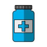 Icona isolata droga della bottiglia Fotografia Stock Libera da Diritti