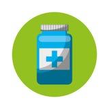 Icona isolata droga della bottiglia Fotografia Stock