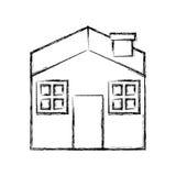 Icona isolata esterno della Camera illustrazione vettoriale