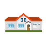 icona isolata esterno sveglio della casa illustrazione di stock