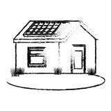 icona isolata esterno sveglio della casa illustrazione vettoriale