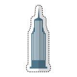Icona isolata New York di Cloudscraper Immagine Stock