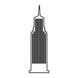 Icona isolata New York di Cloudscraper Fotografia Stock Libera da Diritti