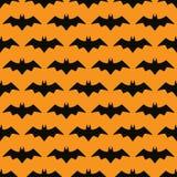 Icona isolata siluetta nera del pipistrello Immagine Stock