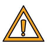 Icona isolata simbolo attento illustrazione di stock