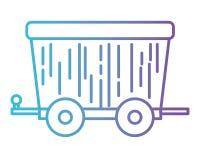 Icona isolata vagone di estrazione mineraria royalty illustrazione gratis