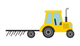 Icona isolata veicolo dell'azienda agricola del trattore Fotografie Stock Libere da Diritti