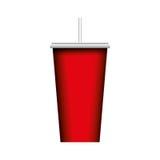 icona isolata vetro della soda Immagini Stock