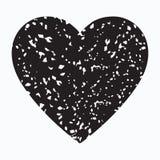 Icona isolata vettore del cuore del nero di lerciume royalty illustrazione gratis
