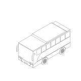 Icona isometrica del bus Fotografie Stock Libere da Diritti