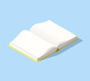 Icona isometrica del libro nello stile piano di progettazione Fotografia Stock Libera da Diritti