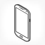 Icona isometrica del telefono Fotografie Stock