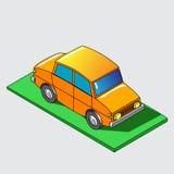Icona isometrica dell'automobile Illustrazione Fotografia Stock Libera da Diritti