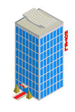 Icona isometrica dell'hotel Fotografie Stock Libere da Diritti