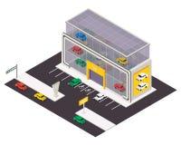 Icona isometrica della costruzione di vettore illustrazione di stock