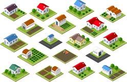 Icona isometrica rurale Fotografia Stock