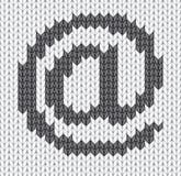 Icona lavorata a maglia della posta Immagini Stock Libere da Diritti