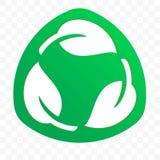 Icona libera di plastica riciclabile biodegradabile di vettore dell'etichetta del pacchetto Logo d'imballaggio riciclabile di Eco immagini stock