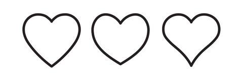 Icona lineare del cuore royalty illustrazione gratis