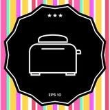 Icona lineare del forno del tostapane Fotografie Stock