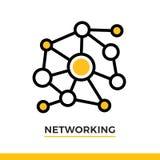 Icona lineare della rete Pittogramma nello stile del profilo Vector l'elemento piano moderno di progettazione per l'applicazione  Immagini Stock Libere da Diritti