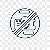 Icona lineare di gioco di vettore di concetto isolata sulla parte posteriore trasparente illustrazione vettoriale