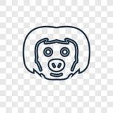 icona lineare di vettore di concetto di bradipo isolata sul backgro trasparente royalty illustrazione gratis
