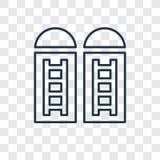 Icona lineare di vettore di concetto del silo isolata sul backgrou trasparente illustrazione di stock
