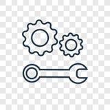 Icona lineare di vettore di concetto del supporto tecnico isolata sul transpa royalty illustrazione gratis