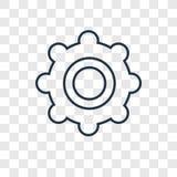 Icona lineare di vettore di concetto del tamburino isolata sulle sedere trasparenti royalty illustrazione gratis