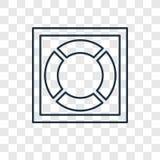 Icona lineare di vettore di concetto della salvavita isolata sul BAC trasparente royalty illustrazione gratis
