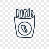 Icona lineare di vettore di concetto delle fritture isolata sul backgro trasparente royalty illustrazione gratis